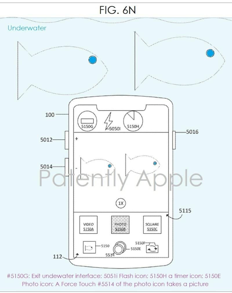 Apple patent underwater snorckeling
