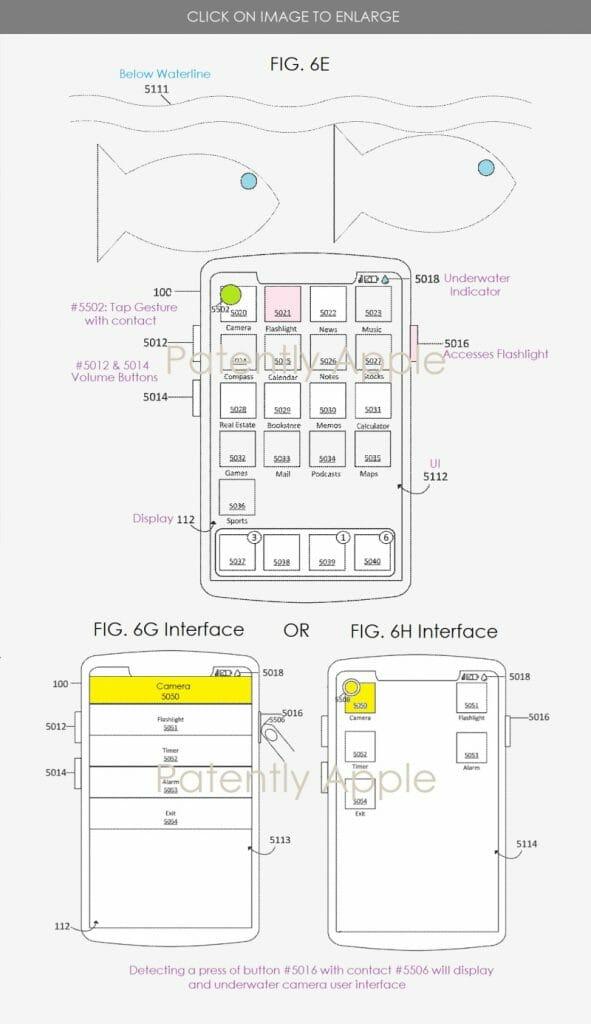 Apple patent underwater UI