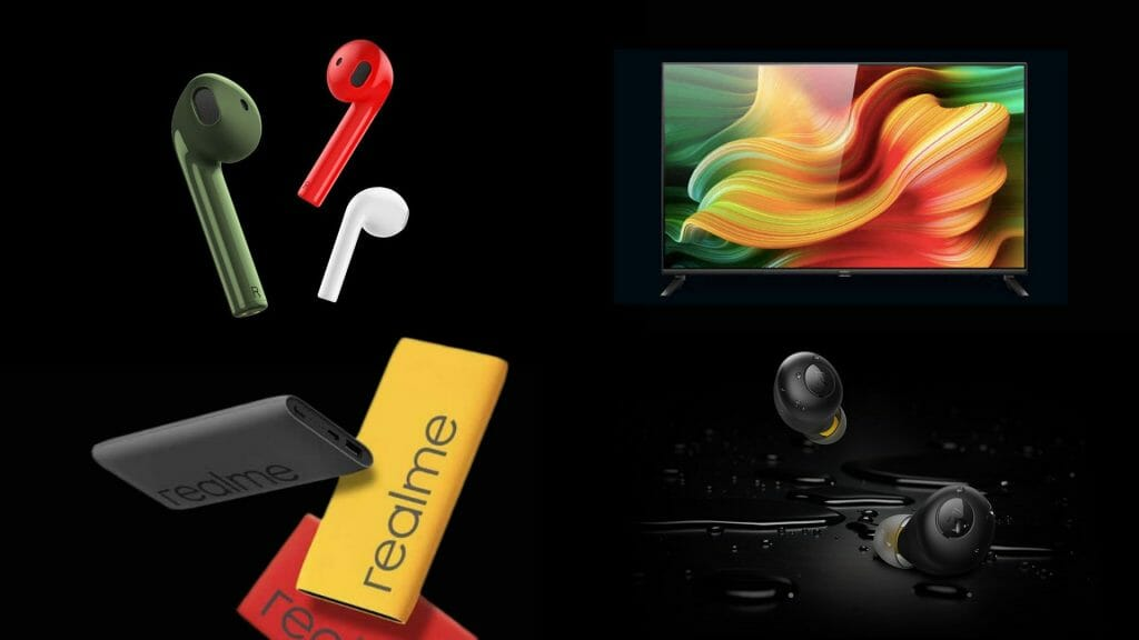 Realme Buds Air Neo Q TV and Power Bank
