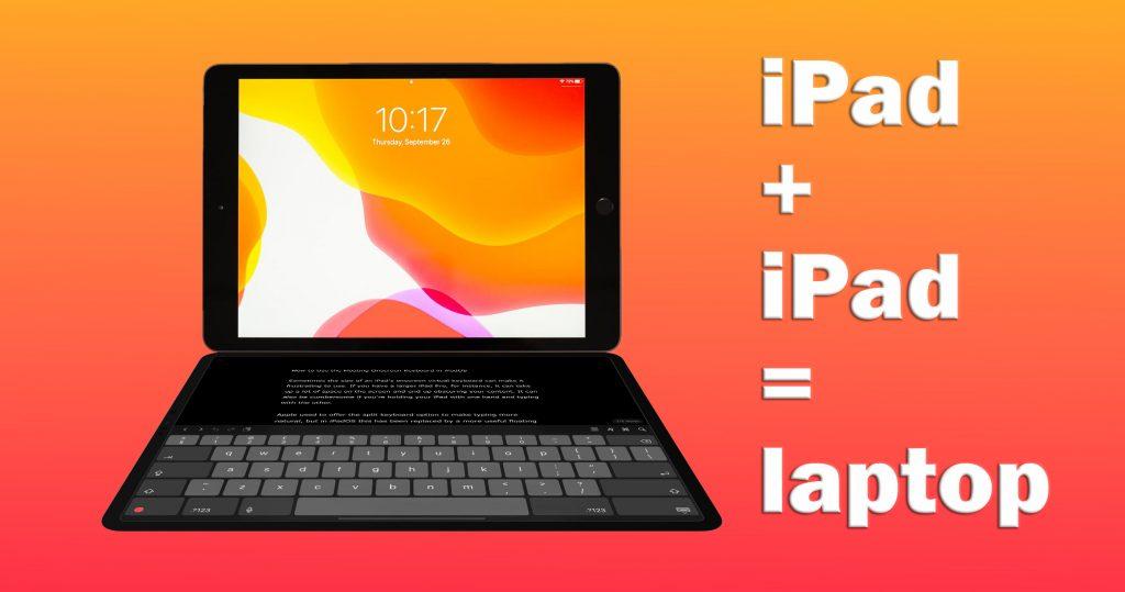 Apple 2 ipad laptop