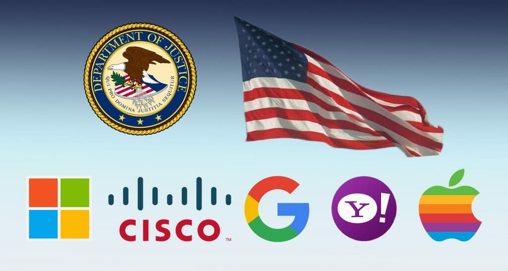 САЩ с обвинения към Apple, Google, Microsoft Yahoo и Cisco