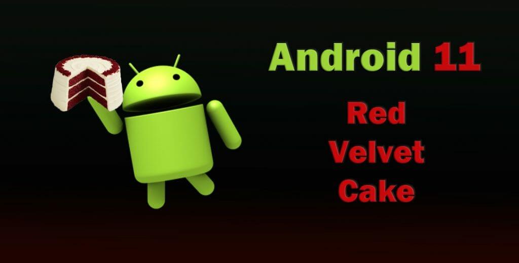 Android 11 - Red Velvet Cake - червено кадифе