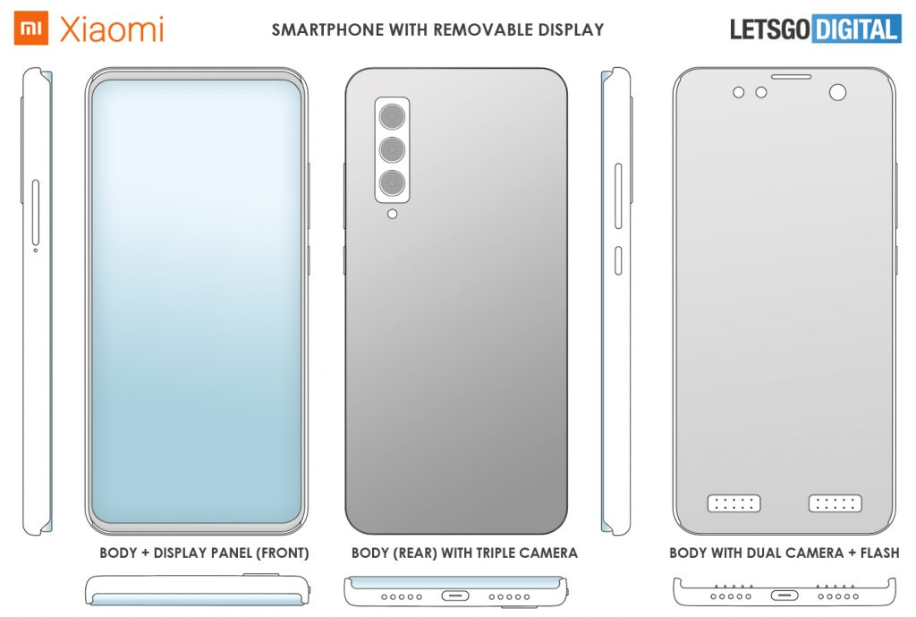 Xiaomi патент отделящ се дисплей