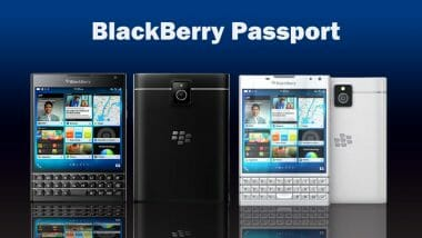 Blackberry Passport - бял и черен
