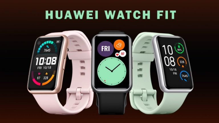 HUAWEI-Watch_Fit в 3 цвята Mint Green, Sakura Pink и Graphite Black