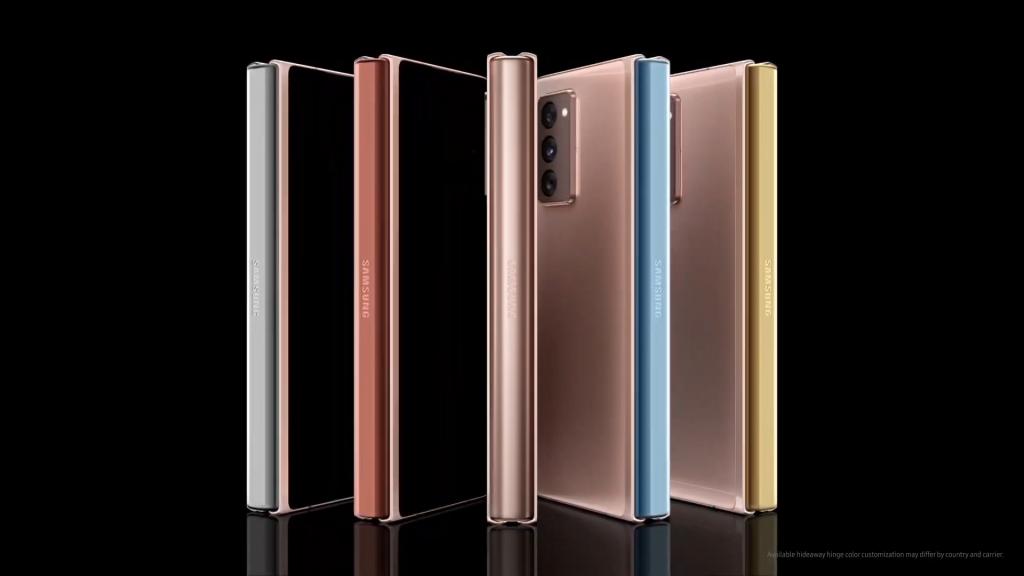 Със закупуването на Galaxy Z Fold 2 имате възможност за персонализация, като изберете цвят за пантата
