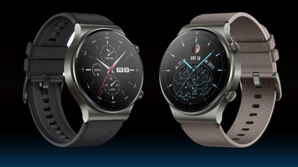 Относно каишките на Huawei Watch GT 2 Pro има избор между стилна кожена в цвят, който се слива с титаниевия корпус, и класически черен силикон, подходящ за любителите на водните спортове или по-натоварващите тренировки.