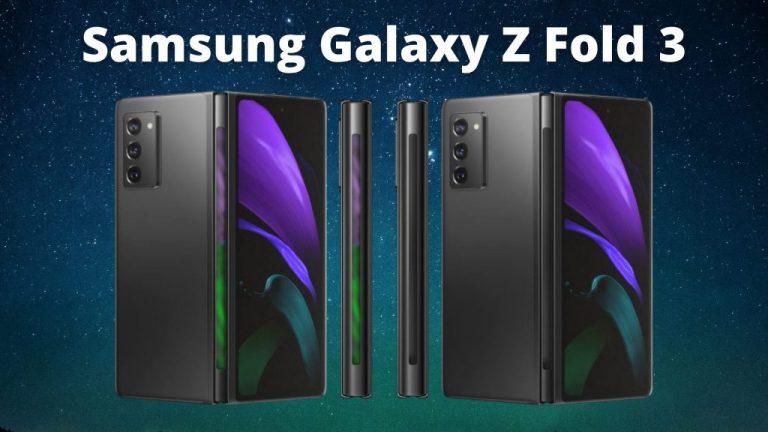 Galaxy Z Fold 3 с LED индикатор в пантата за визуализация на известия
