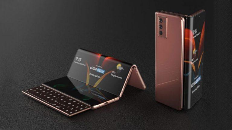 Samsung Galaxy Z Fold 3 - трифолд с клавиатура