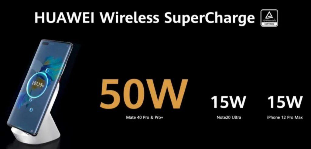 Mate 40 Pro и Pro+ с 50W безжично зареждане - Super Charge