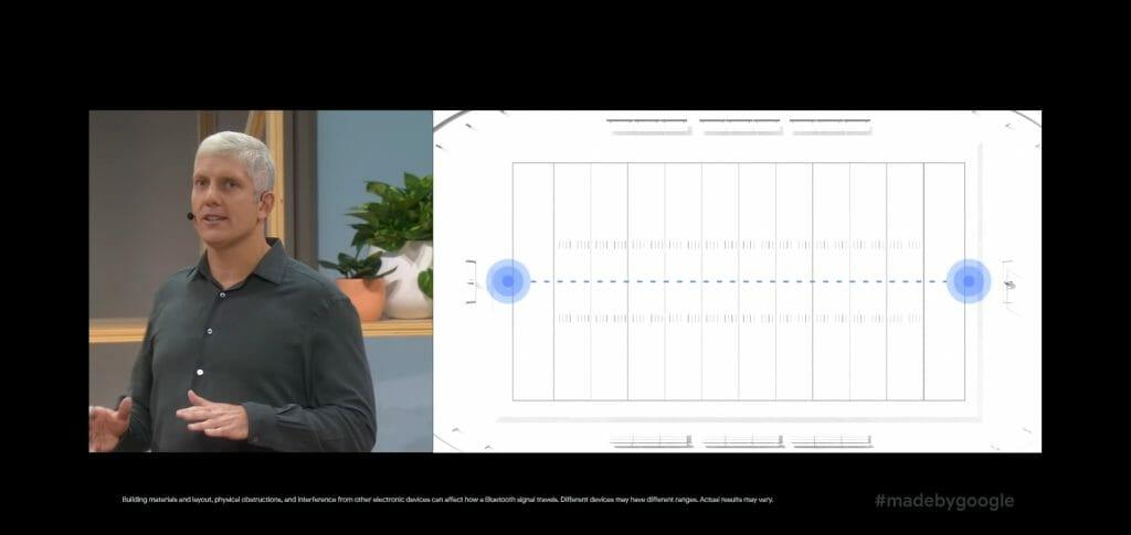 А на открито Pixel Buds 2 поддържат връзка на площ с размерите на игрище за футбол
