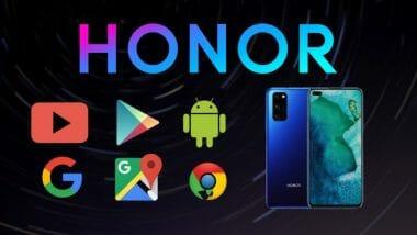 Honor с услугите на Google