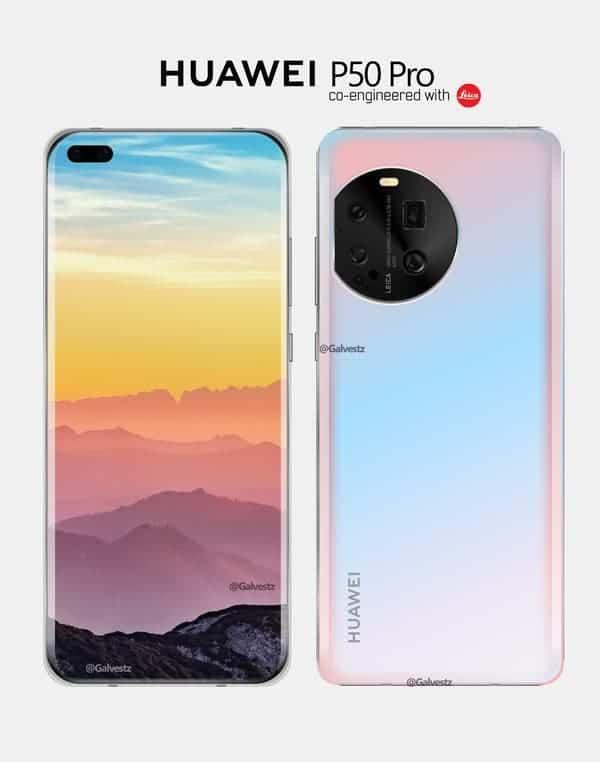 Huawei P50 с Kirin 9000 и кръгъл камера модул на гърба до края на юни  2021г. - divna.Tech