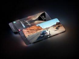 Samsung - безрамков слайдер телефон с камер зад екрана