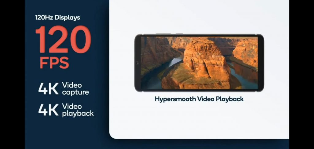 Snapdragon 888, както и Snapdragon 865 могат да записва 4K видео със 120 fps, но при Snapgragon 888 това вече е възможно и за playback.