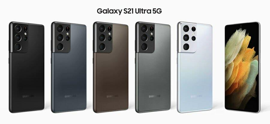 Цветове и финиш на Galaxy S21 Ultra