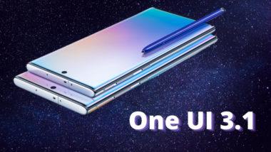 galaxy note 10 получава One UI 3.1