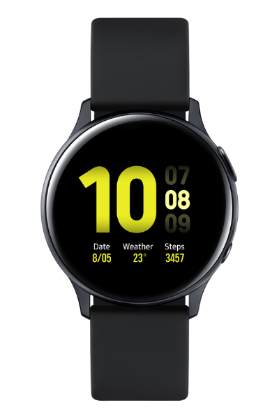 Часовник Smartwatch Samsung Galaxy Watch Active 2, 40 mm, Wi-Fi, Aluminum – Aqua Black - цена - купи