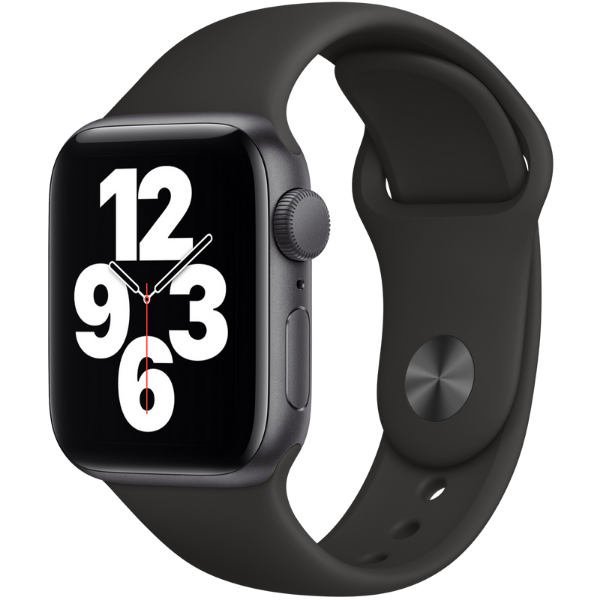 Apple Watch SE, GPS, Корпус Space Gray Aluminium 40mm, Black Sport Band - цена - купи
