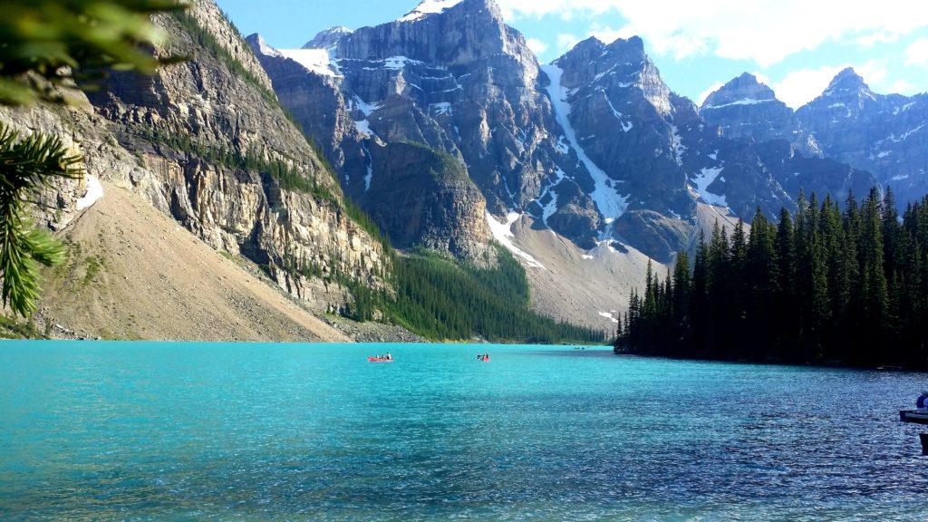 """Мобилна фотография на Георги Спасов - """"Езерото Морейн, национален парк Банф, провинция Алберта, Канада"""", снимано със Samsung Galaxy Note 3"""