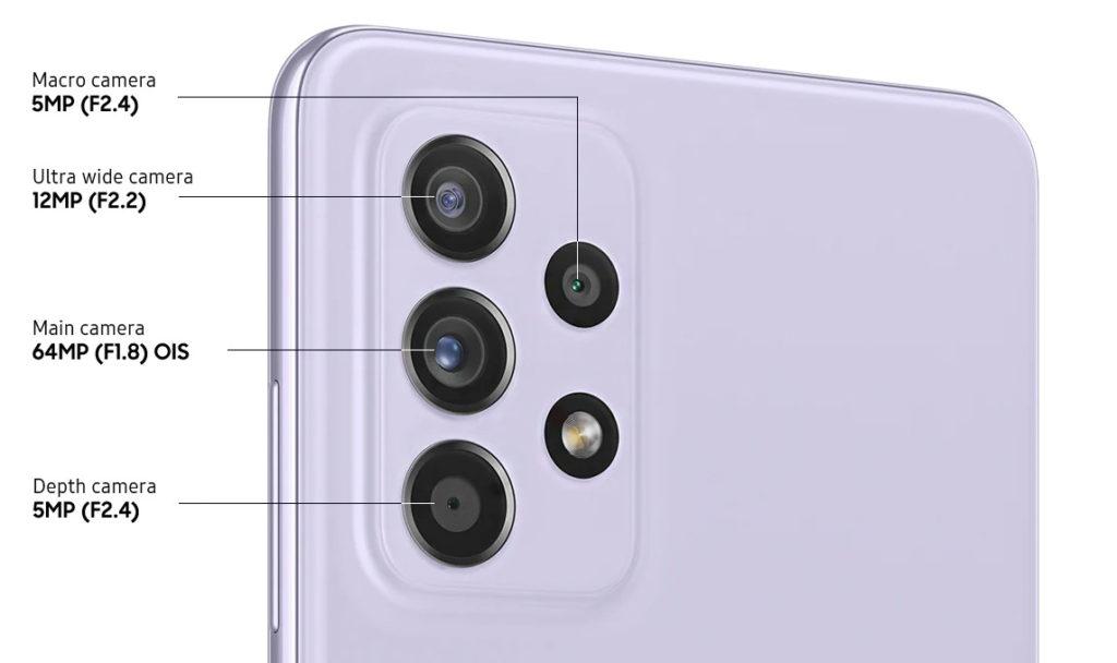 Камери на Galaxy A52