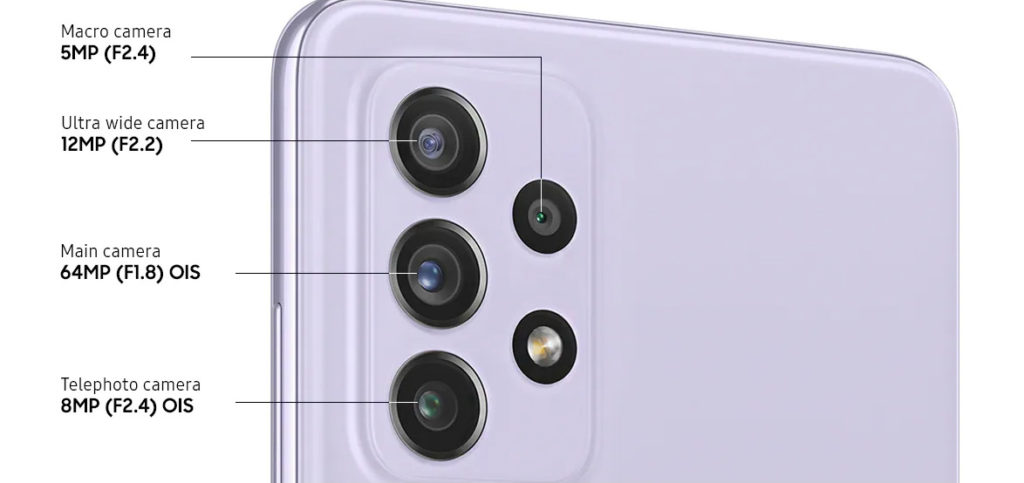 Камери на Galaxy A72