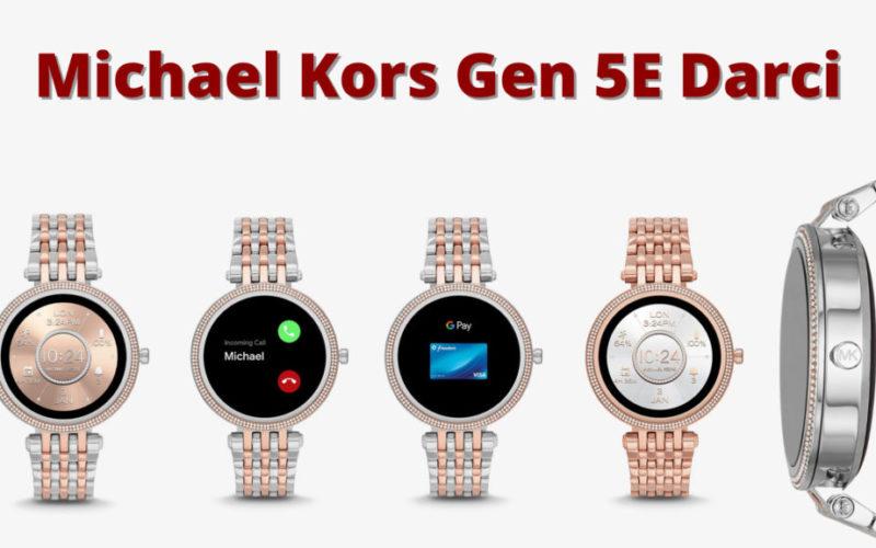 Michael Kors Women's Gen 5E Darci Touchscreen Smartwatch with Speaker, Heart Rate, GPS, NFC and Smartphone Notifications