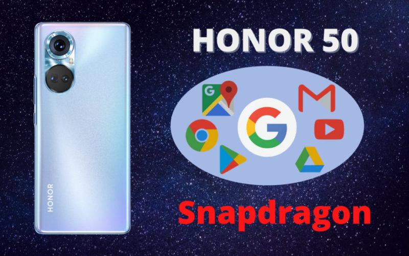 Телефоните от серията Honor 50 ще се задвижват от чипсети Snapdragon на Qualcomm и ще бъдат с услугите на Google.