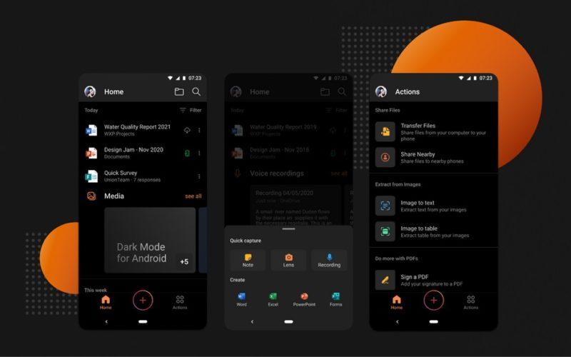 Microsoft Office за Android получава тъмен режим